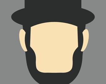 Minimalist Abraham Lincoln.