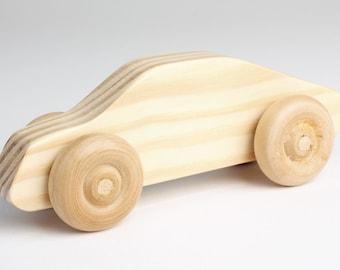 Custom wood toy Car (optional Police Car version)