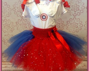 Captain America Tutu Set
