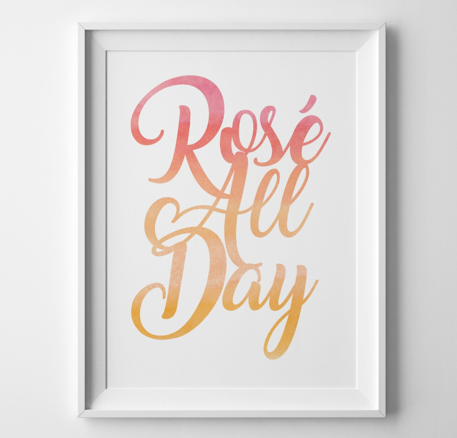 Ros all day pink ombre word art 8x10 wine decor wine art gallery photo gallery photo gallery photo amipublicfo Gallery