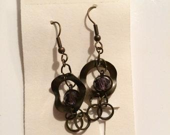 Purple Charm Earrings