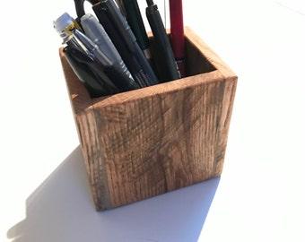 Reclaimed Wood Pen Holder