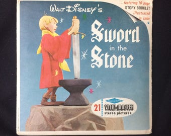 Sword in The Stone Disney View Master Sawyer's Vintage Set 3 Reels + Booklet + packet B 316