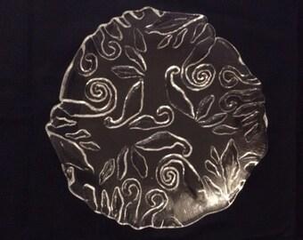 Vintage Pressed Glass / Indiana Glass Decorative Plate - c. 1970's