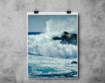 Nature Collection - Crashing Waves - A4/A3 - Art - Modern - Ocean / Sea/ Water