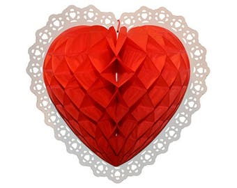 Tissue paper red heart