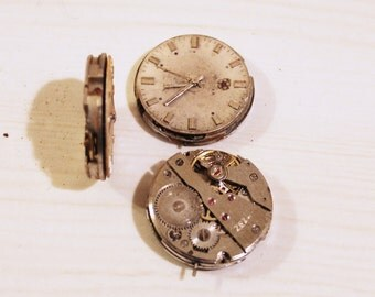 Mechanical watch core for DIY steampunk vintage watch core gears pendant chabochon mechanical watch