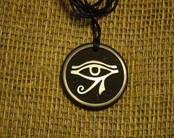 "Shungite pendant ""Eye of Horus"" from Karelia talisman exclusive."