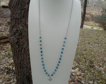 Blue Jasper Convertible Asymmetrical Necklace