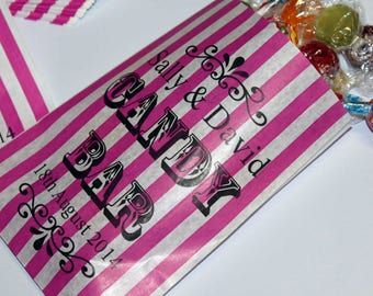 Personalised Sweet Bags for your Wedding Candy Bar, Sweet Buffet or favours - Candy Cart