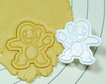 Pokemon Charmander Cookie Cutter and Stamp