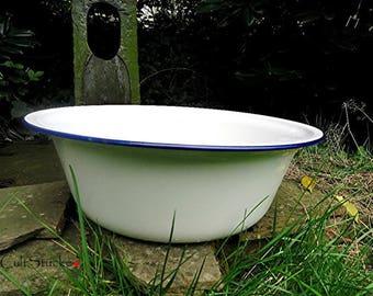 Vintage enamel Bowl China bumper harvest