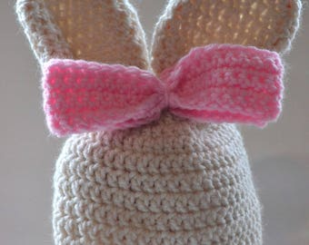 Easter Bunny Bow Hat