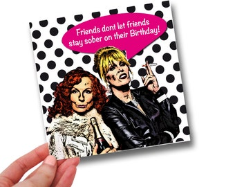 Absolutely Fabulous // Sober Birthday // Birthday Card