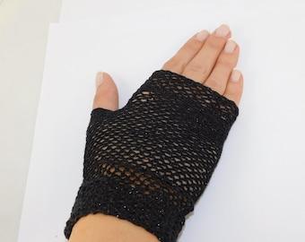 Handmade Fingerless Gloves, Handmade Gloves, Hand Knit Fingerless Gloves, Knitten Gloves, Ladies Gloves.
