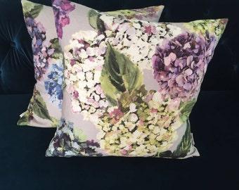Designers Guild, Sudara amethyst, Saraile lemongrass - Decorative pillow cover