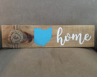 Pallet home sign with state