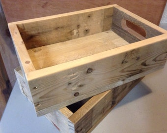 Rustic wooden box/tray