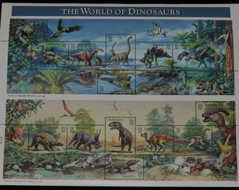Vintage US Postage Stamps - Dinosaurs - 0217007