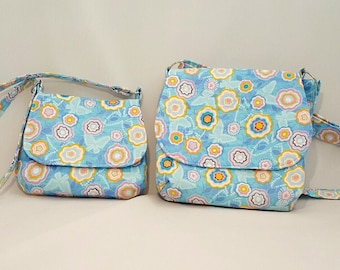 Mother daughter handbags - Mini me bags - Fabric handbags - Crossbody handbags - Cross body bag - Woman's handbag - Adjustable strap bags