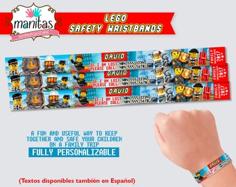40 pack Legoland Theme Park Safety Wristbands - Child Safety ID - Child Bracelet - Family Trip - Lego - Legoland - Legoland Shirts