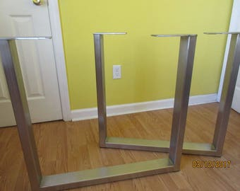 Stainless Table Legs Brushed,Custom Sizes And Designs.