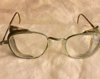 American Optical Safety Glasses with Fold Up Arms and Adjustable Cables