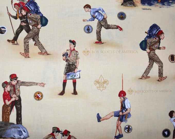 Robert Kaufman Licensed Boy Scout Fabric - 100% Kona Cotton - RARE - ABT-7851-13