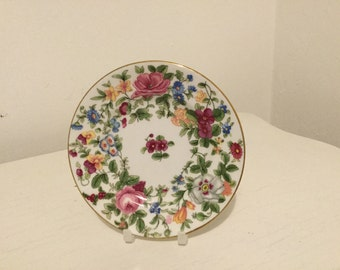 Crown Staffordshire small floral plate
