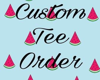 Custom Kids Tee Order