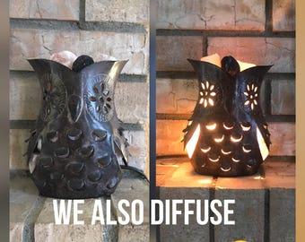 Owl Himalayan salt lamp/essential oil diffuser