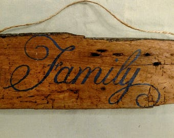 Family Barn Wood Sign