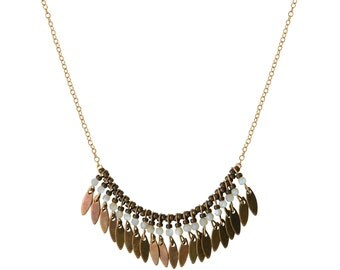 Lou, Golden end 24 k gold necklace