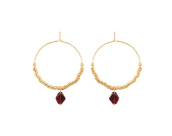 Karin, Golden end 24 k earrings