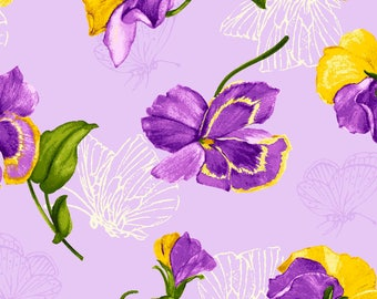 Purple Passion - 4105-61351-3 Purple Tossed Floral - from Exclusively Quilters