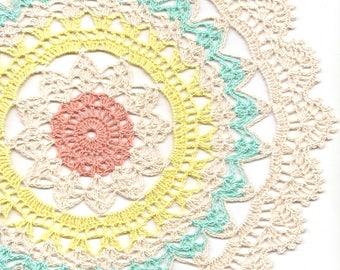 Crochet Doily/ Lace Lacy Doilies/ Wedding Decoration/ Home Decor/ Flower Mandala/ Dream Catcher/ Vintage Handmade Round Doily/ Serviette