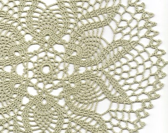 Vintage Handmade Crochet Doily Lace Lacy Doilies Wedding Decoration Home Decor Flower Mandala Dream Catcher Crocheted Round Dusky Green