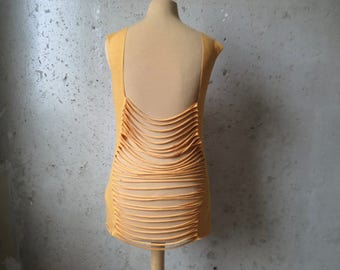 Yellow/orange cut top size M/L Pixie Coachella Goa