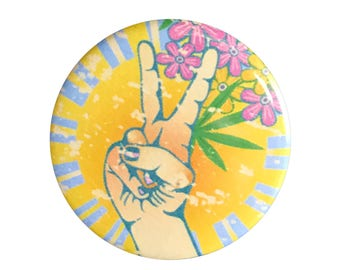 "Peace Plant 1.25"" Button Pin"