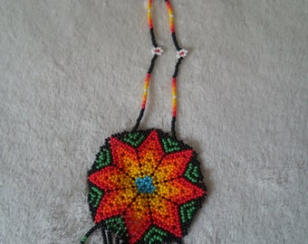 Mexican Huichol Beaded Necklace