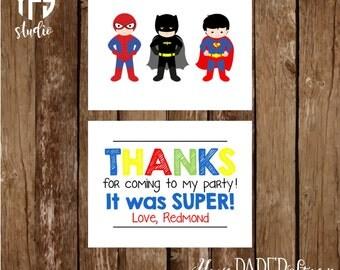 Superhero Notecard