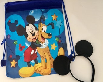 Mickey Mouse Birthday Favors, Mickey Mouse Party favors, Printed Mickey Mouse Bags Party Favors, Disney Trip, Disney Vacation, Mickey