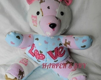 Fast Turn Around, Keepsake Bear, Memory Bear, Keepsake Memory Bear