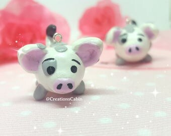 Pua Tsum Tsum Charm, Moana charm, polymer clay charms, disney charms, clay pigs, Pua charm, moana tsum tsum, polymer clay pua