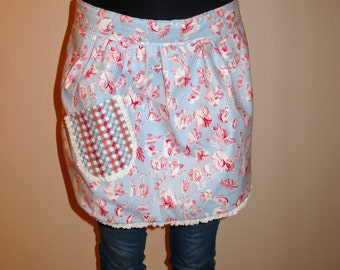 Reversible Half Apron - Bistro Apron - Hostess Apron - Reversible Apron  - Hostess Gift
