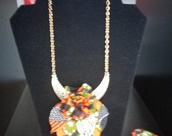 Print Necklace and Bracelet