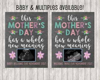 40% OFF! Digital Mother's Day Pregnancy Announcement | Baby Announcement | Twins | Babies | Baby
