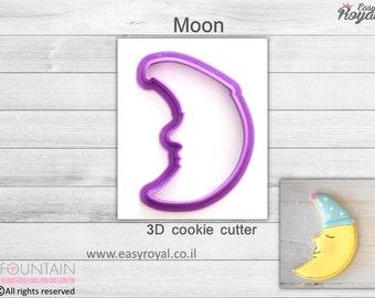 Moon - 3D cookie cutter