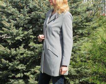 Vintage plaid jacket plaid coat womens clothing workwear jacket spring jacket for women jacket coat vintage blazer womens blazer office coat