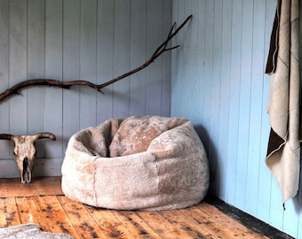 Huge Giant Family Sheepskin Beanbag